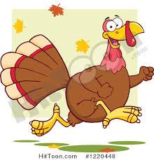 turkey clipart 1220448 happy thanksgiving turkey bird running