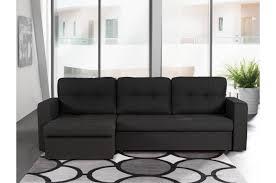 canapé d angle convertible 3 places canapé d angle convertible 3 places noir bony design sur sofactory