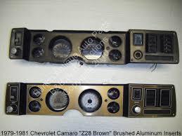 81 z28 camaro 81 chevrolet camaro z28 brown dash insert set