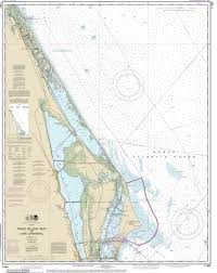 Port Canaveral Florida Map by Modern Nautical Maps Of Florida 80 000 Scale Nautical Charts