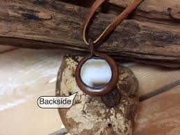 stone pendant leather necklace images Small agate pendant leather necklace womens necklace special jpg