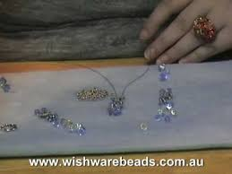 Making Swarovski Jewelry - flower swarovski necklace wishware online beading classes youtube