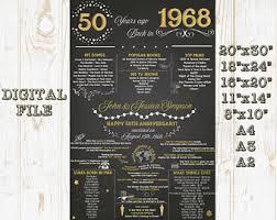 50 wedding anniversary ideas 50th anniversary etsy