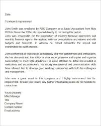 sample recommendation letter from an employer the letter sample
