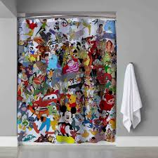 Disney Shower Curtains by Disney Collage All Character Design Shower Curtain 60