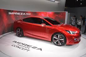 red subaru sedan subaru impreza sedan concept shows off sleek body in l a