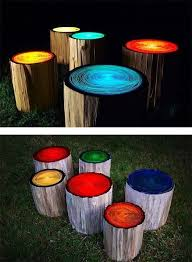 Firepit Logs Make Glow In The Paint Stools Logs And