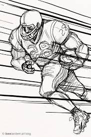ben lambert u0027s art blog football player sketches