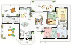plan maison moderne 5 chambres plan maison plain pied jura