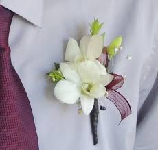 orchid boutonniere white maroon orchid boutonniere in pleasanton ca alexandria s
