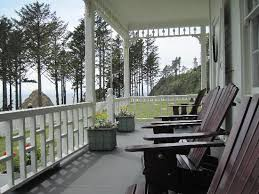 Chairs For Front Porch The Front Porch With The Adirondack Chairs Picture Of Heceta