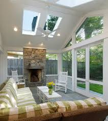 porch designs porch farmhouse with standing seam roof ceiling fan