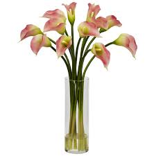 nearly mini calla silk flower arrangement reviews