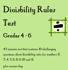 all worksheets divisibility rules worksheets with answers