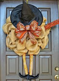 easy to make halloween wreaths diy witch wreath
