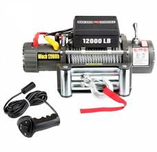 truck car trailer electric winch w remote control 12 000 lbs