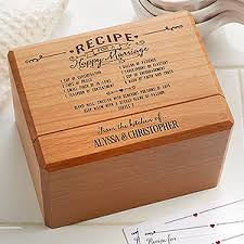 personalized box personalized wedding recipe box recipe for a happy marriage