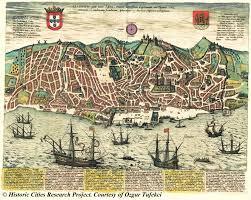 Ancient Maps Of The World by Lisbon Portugal Braun U0026 Hogenberg 1592 Brasil Sec Xvi Xvii