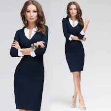 robe bureau acheter femmes robe col en v profond patchwork design 3 4 robe