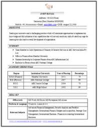 exle of great resume to get a challenging position in an aggressive organization that