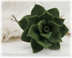 flower hair pins green succulent hair pins succulent flower hair