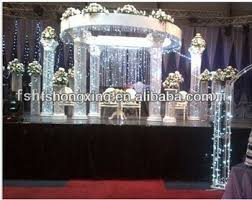 Pillars And Columns For Decorating New Fashion Metal And Crystal Wedding Decorating Roman Pillar