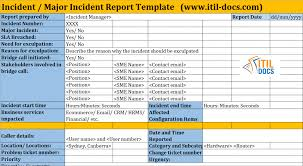 incident report template itil incident report template in itil incident management