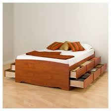 12 drawer tall platform storage bed full double cherry