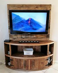 diy rustic wood pallet tv stand low cost pallet tv stand 60