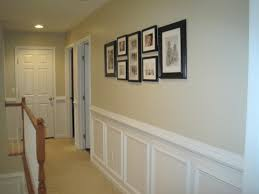 wall decor elegant black wainscoting ideas plus wooden door and