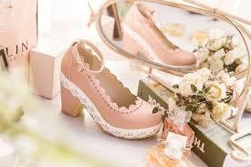 Light Pink Wedding Shoes Fbasket