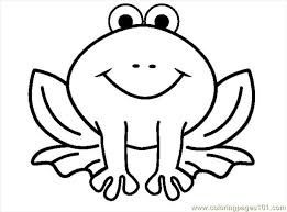 free coloring pages frog outline 9747 bestofcoloring