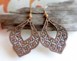 eco earrings eco ash and almond wood earrings handmade wooden jewelry