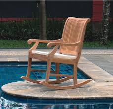 Wicker Outdoor Rocking Chairs Elegance The Furniture With Teak Rocking Chair