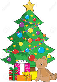 Teddy Bear Christmas Ornaments by A Christmas Tree Decorated With Ornaments And A Star Has Wrapped