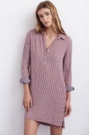 velvet by graham u0026 spencer allison gingham shirt dress in red lyst