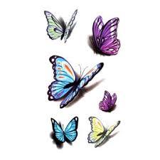 waterproof temporary sticker 3d butterfly color
