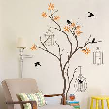 Home Interior Bird Cage Wall Decor Contemporary Handmade Bird Cage Wall Painted