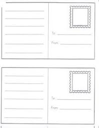draw your own postcard postcard template free printable and