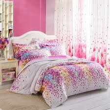 Lilac Bedding Sets Purple White Yellow And Blue Lilac Floral Print Size