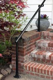 front steps deck railing pipe railing pinterest front steps