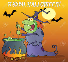 happy halloween pic happy halloween greeting over a green halloween witch making
