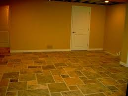 Tile On Concrete Basement Floor by Classy Basement Flooring Design On Basement With Basement Floor