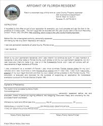 77 affidavit form templates free pdf examples creative template