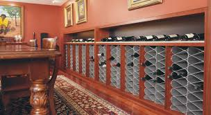 Home And Floor Decor Furniture Cool Wine Cellar Racks With Beige Wall Painting And