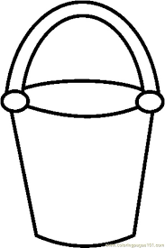 bold design bucket filler coloring page bucket filler coloring