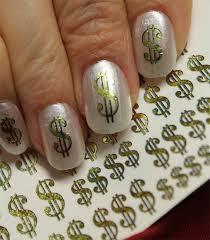 38 gold dollar signs nail art dsg poker casino money bling