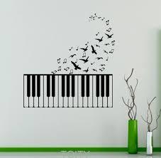 online get cheap musical note wall decals aliexpress com piano keys wall vinyl decal musical notes sticker birds home bedroom decor removable murals housewares