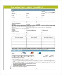 international travel insurance images 12 travel proposal form samples free sample example format jpg