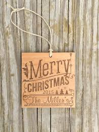 wood ornaments engraved ornament laser engraved gift